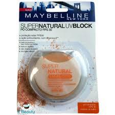 Super Natural FPS30 UV-Block Maybelline - Pó Compacto - 01 - Claro