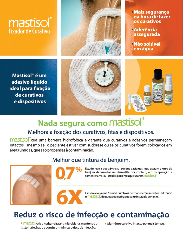 Mastisol® Protetor Cutâneo com Adesivo Líquido para Curativo (ampola estéril - uso único)