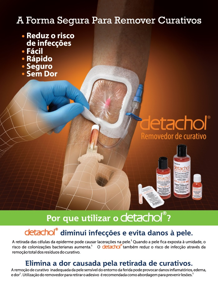 Detachol® - Removedor de Adesivos (cartela com 4 ampolas - estéril - uso único)