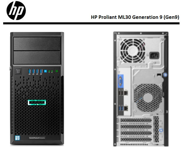 Servidor Hp Proliant Ml30 Gen9 Intel Xeon E3-1220v6 64gb 1tb DVDRW 1 ano on-site   - TNTinfo Loja