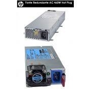 Kit Fontes Redundantes Servidor HP ML30 contendo 2x 503296-B21 460W Gold + 822607-B21 módulo redundante de energia (RPS)