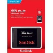 Hd SSD Sandisk Plus 120GB SATA3, Leitura 530MB/s, Gravação 3