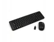 Kit Teclado E Mouse Wireless Logitech Mk220 Usb Sem Fio Preto