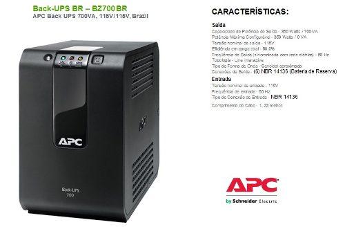 Nobreak Apc Microsol Back-ups 700va 115v/115v Mono Bz700 Br  - TNTinfo Loja