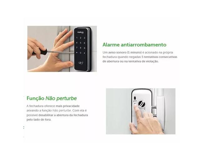 Fechadura Digital C/ Senha E Cartão Fr201 Intelbras  - TNTinfo Loja