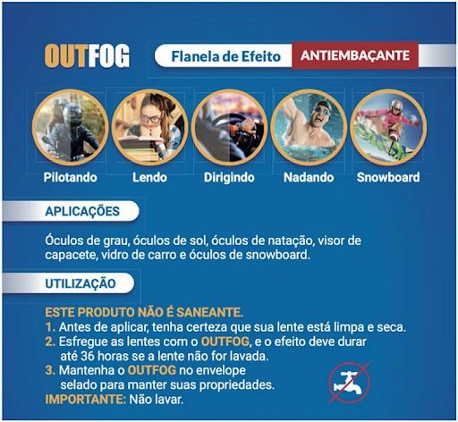 Flanela De Efeito Antiembaçante para Óculos Outfog  - TNTinfo Loja