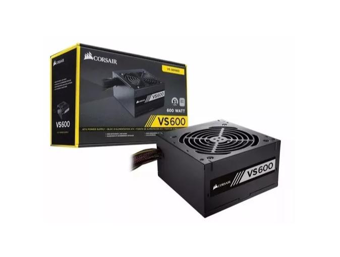 Fonte ATX Corsair 600w VS600 80plus White CP-9020119-LA  - TNTinfo Loja