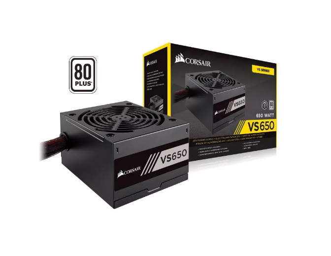 Fonte ATX Corsair 650w VS650 80Plus White CP-9020172-WW - TNTinfo Loja