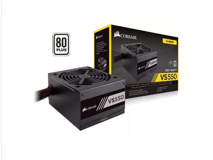 Fonte Gamer 550w Real Corsair Vs550 80plus White Atx Pfc Ativo  - TNTinfo Loja