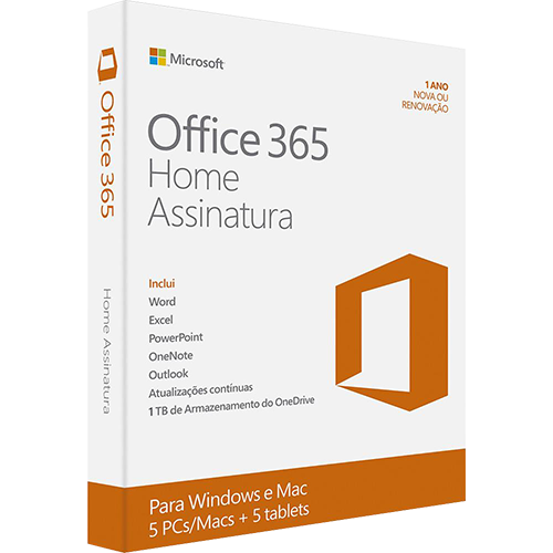 fa456f53a Microsoft Office 365 Home  5 Licenças (PC