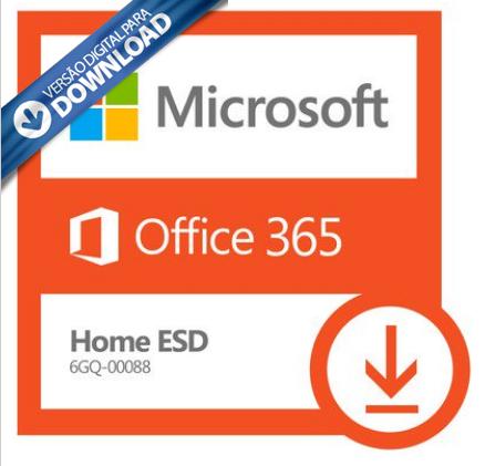 Microsoft Office 365 Home: 5 Licenças (PC, Mac, Android e IOS) + 1 TB de HD virtual para cada licença (ESD 100% DIGITAL) 6GQ-00088  - TNTinfo Loja