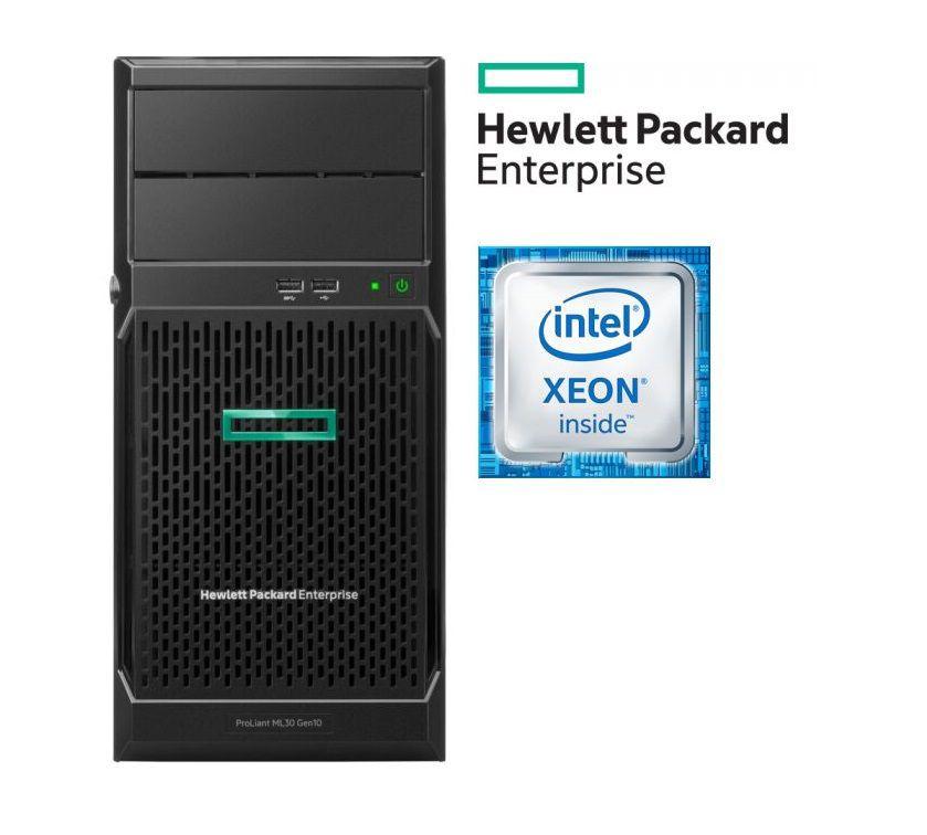 Servidor HP Proliant ML30 Gen10 Intel Xeon E-2124 3.3 Ghz  16GB +2 SSD 480gb  - TNTinfo Loja