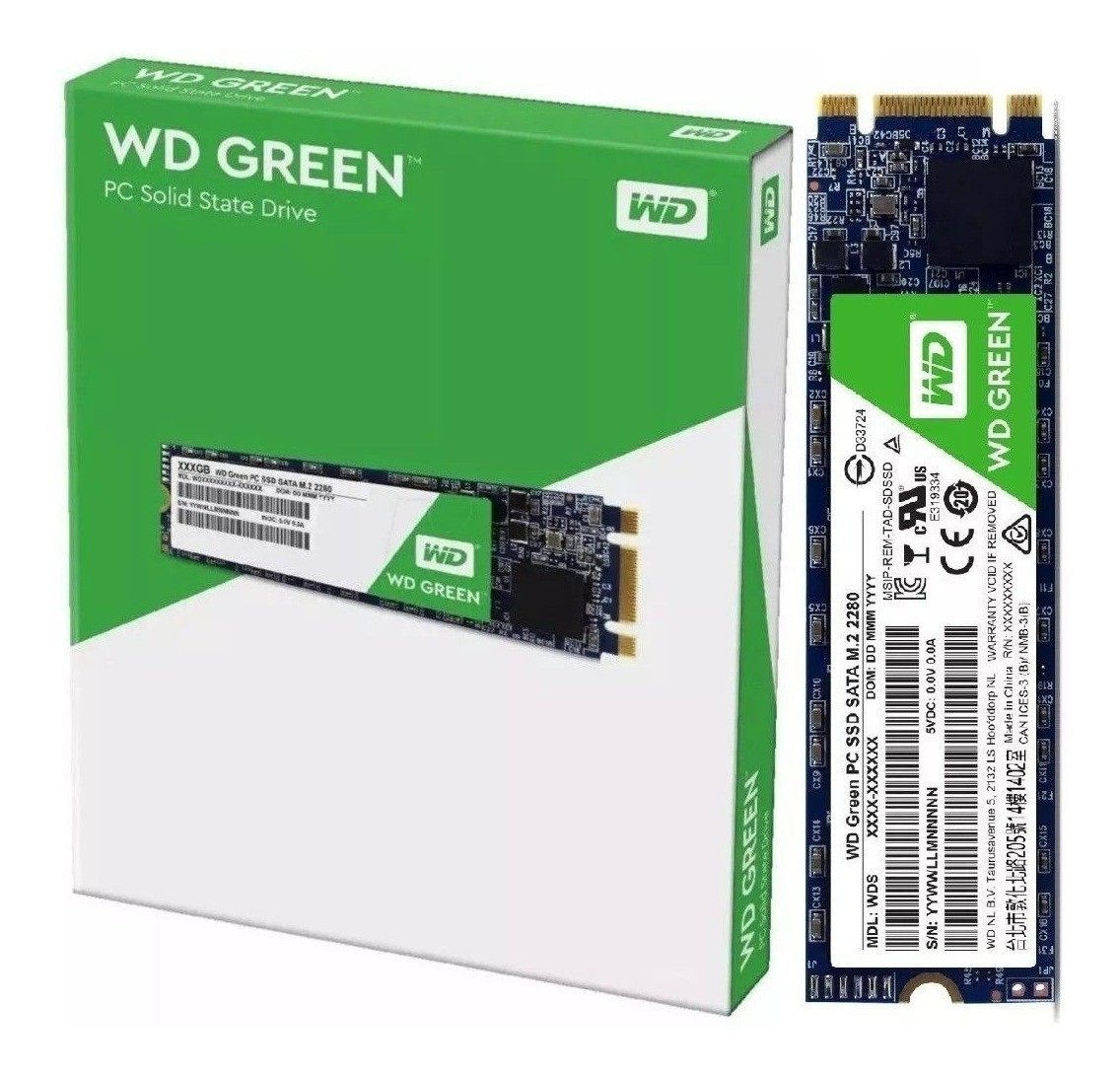 SSD WD Green 480GB M.2 Leitura 545MB/s - WDS480G2G0B  - TNTinfo Loja