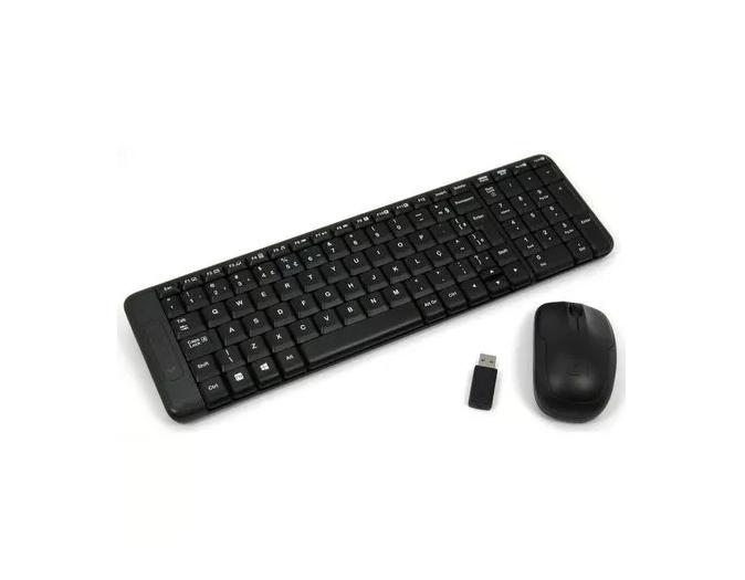 Kit Teclado E Mouse Wireless Logitech Mk220 Usb Sem Fio Preto  - TNTinfo Loja