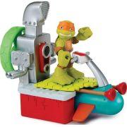 Aluguel Boneco Tartarugas Ninja Half Shell Hero Figura com Veículo Michelangelo - FI