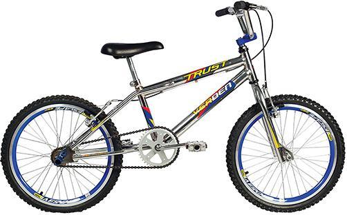 Aluguel Bicicleta Infantil Trust Cromo com Aro Az - Aro 20cx