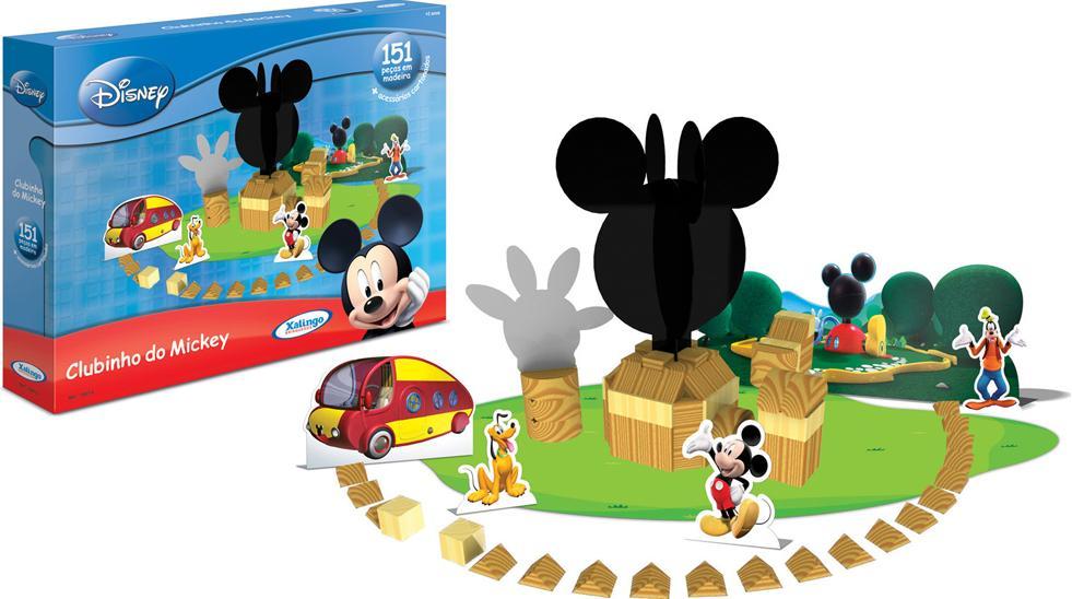 Aluguel Blocos de Madeira Mickey Club House Disney