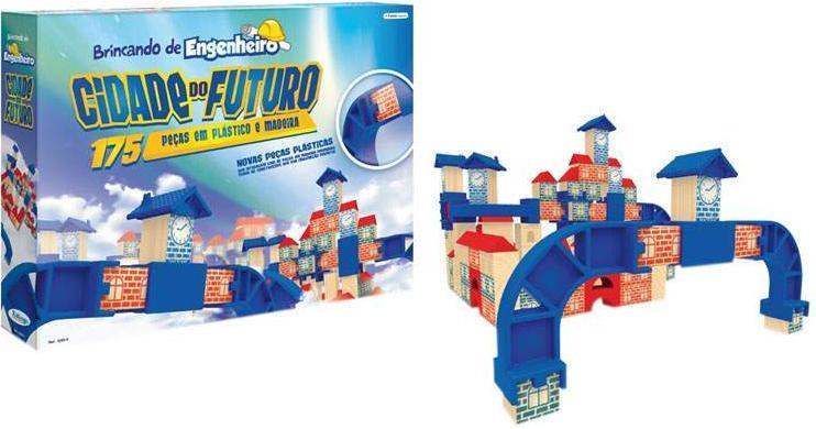 Aluguel Brincando de Engenheiro Cidade do Futuro 175 Peças