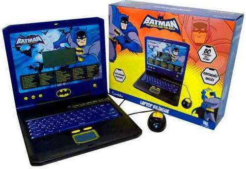 Aluguel Laptop Bilíngue do Batman 80 Atividades