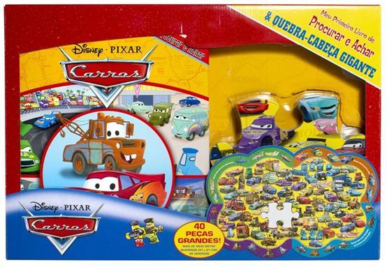 Aluguel  Livro Disney Cars de Procurar e Achar & Quebra-Cabeça Gigante