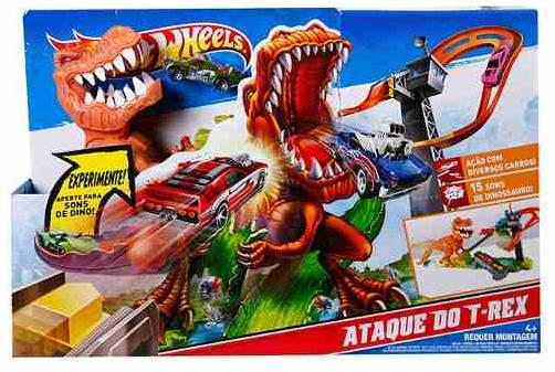 Aluguel Pista Hot Wheels - Ataque do T-Rex - FA