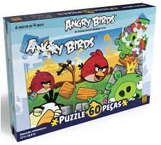 Aluguel Quebra- Cabeça Angry Birds- 60 Peças