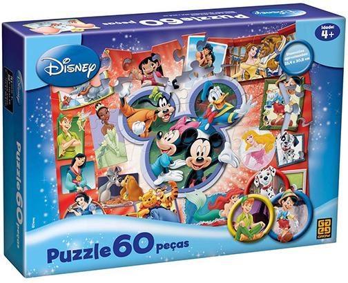 Aluguel Quebra- Cabeça Disney 60 Peças