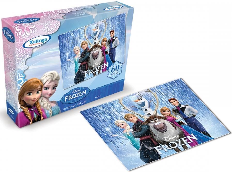Aluguel Quebra- Cabeça Frozen Disney 60 Peças