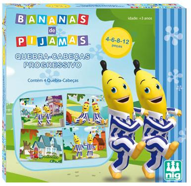 Aluguel Quebra- Cabeça  Progressivo- Bananas de Pijamas- 2, 3, 4 e 5 peças