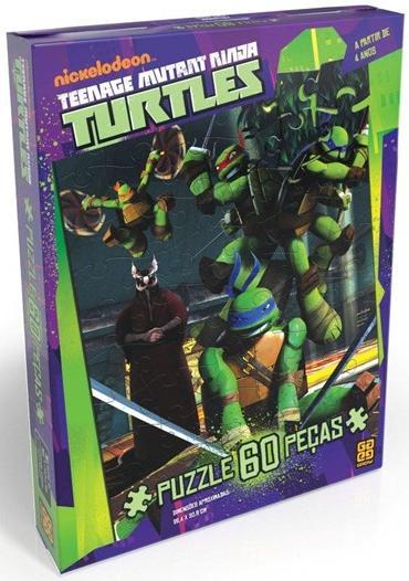 Aluguel Quebra- Cabeça Tartarugas Ninja 60 Peças