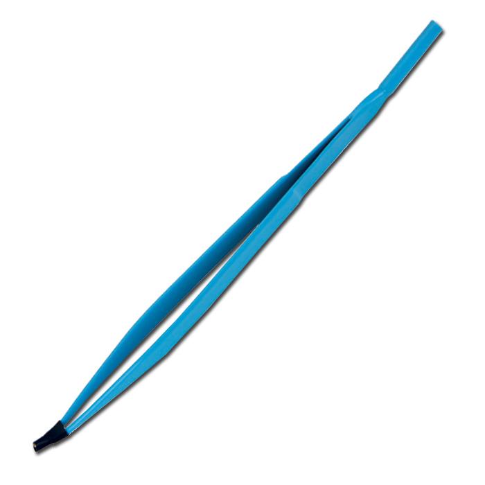 Pinça Monopolar Reta 17cm - ponta curva - Autoclavável