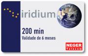 Cartão Pré Pago 200 minutos para Telefone via Satélite Iridium 9555