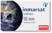 Cartão Pré Pago 50 minutos para Telefone via Satélite IsatPhone 2