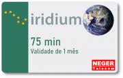 Cartão Pré Pago 75 minutos para Telefone via Satélite Iridium 9555