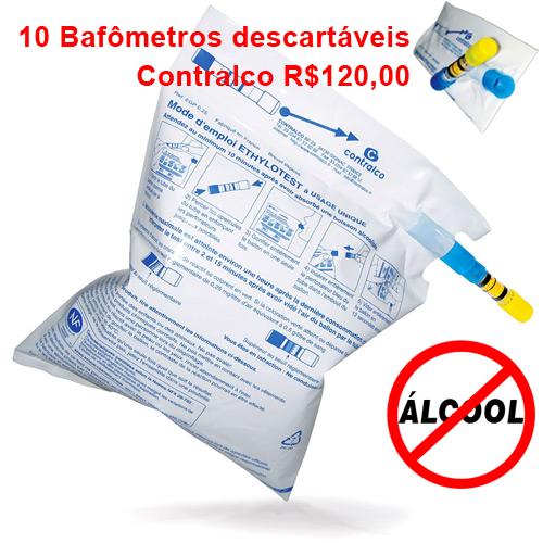 10 BAFÔMETROS DESCARTÁVEIS CONTRALCO  - EAB - Prevenção e Saúde