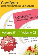 Kit cardápio Restaurante Self-Service Vol. 01 + Vol. 02