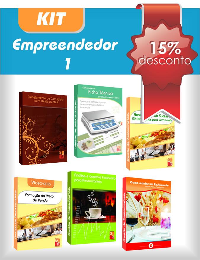 Kit Empreendedor 1  - GR - Treinamento em Gestão de Restaurantes e Gastronommia