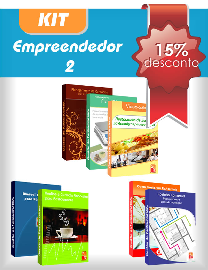 Kit Empreendedor 2  - GR - Treinamento em Gestão de Restaurantes e Gastronommia