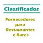 Classificados - Fornecedores para Restaurantes e Bares