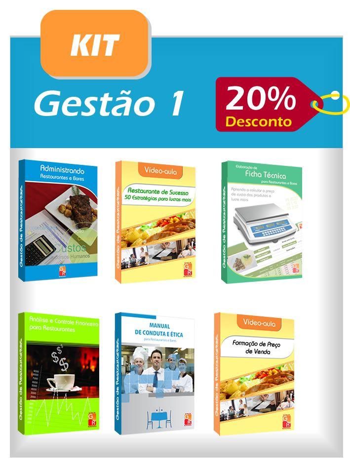 Kit Gestão 1  - GR - Treinamento em Gestão de Restaurantes e Gastronommia
