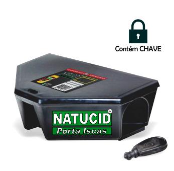 01 un Kit Iscas Natucid Mata Ratos pote Econômico 1,1L/500gr + 02 Un Natucid Porta iscas Profissional com chave, Prático Rápido e Seguro.