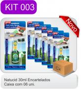 Cód. 11 -Natucid 30ml Cartelas - Eficaz contra Formigas, Cupins e Baratas - Cx 06 frascos
