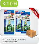 Cód. 13 - Natucid 100ml Cartelas - Eficaz contra Formigas, Cupins e Baratas - Cx 03 frascos