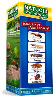 Inseticida elimina Cupins de gramados, montículos e madeiras Natucid display 500ml 01 uni.