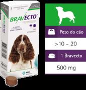 Bravecto Antipulgas E Carrapatos Para Cães De 10 A 20kg