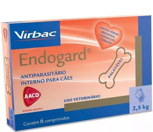 Vermífugo Virbac Endogard Para Cães Até 2,5 Kg 6 Comprimidos