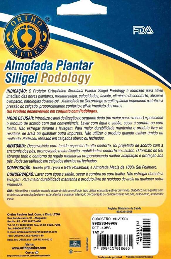 Almofada Plantar De Gel Siligel Podology  Tam: M