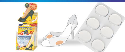 Almofadas Adesivas Para Conforto Soft-Gel