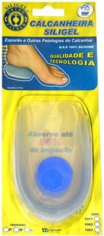 Calcanheira Para Esporão Siligel Ponto Azul  Tam: M