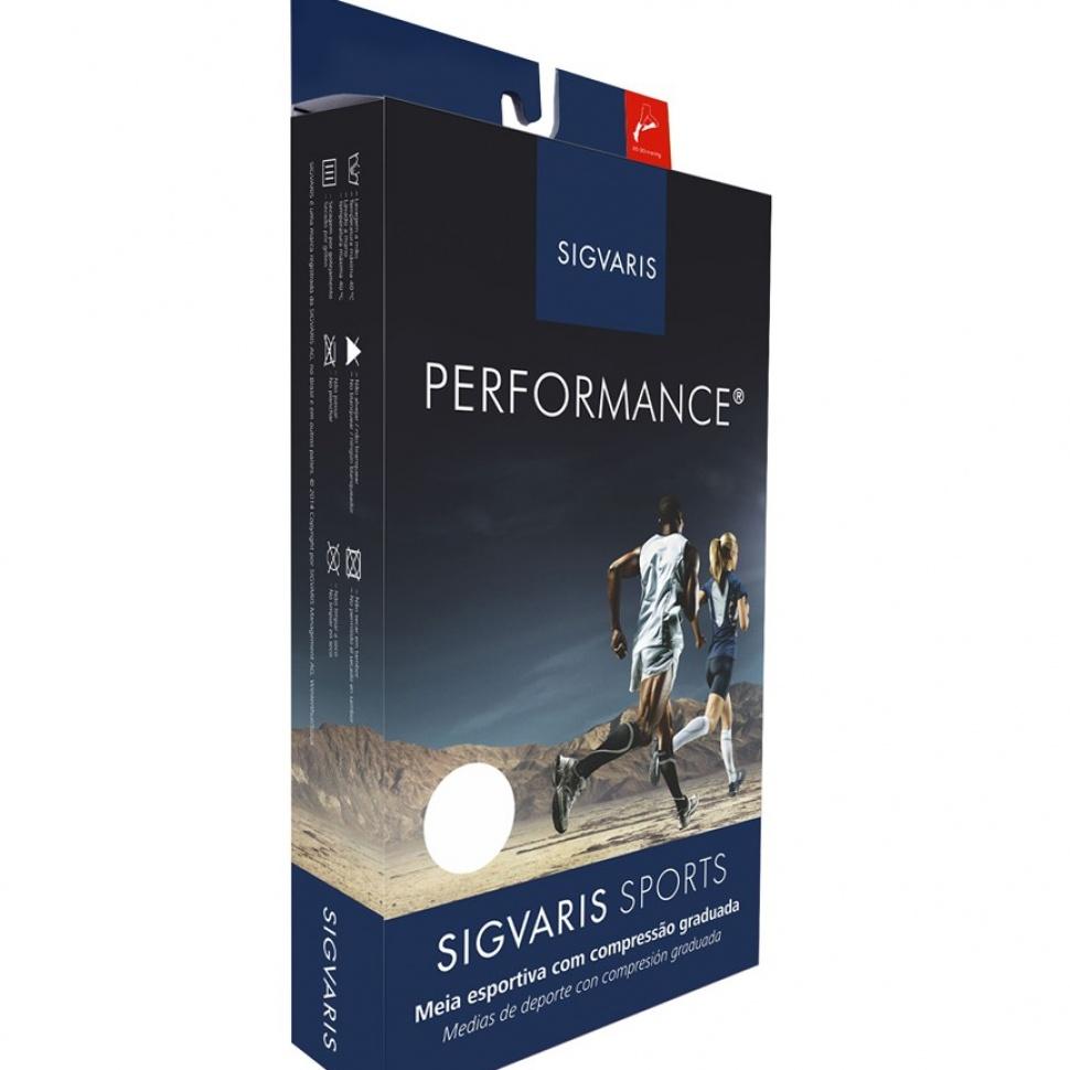 Meia Esportiva Performance 3/4 Panturrilha Média Compressão 20-30 Mmhg Cor: Preto Tam: G41-44